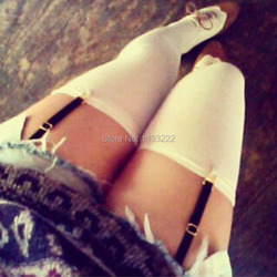 Details about  /Women Adjustable Elastic Y//I Style Leg Garter Straps Suspender Stockings Clips
