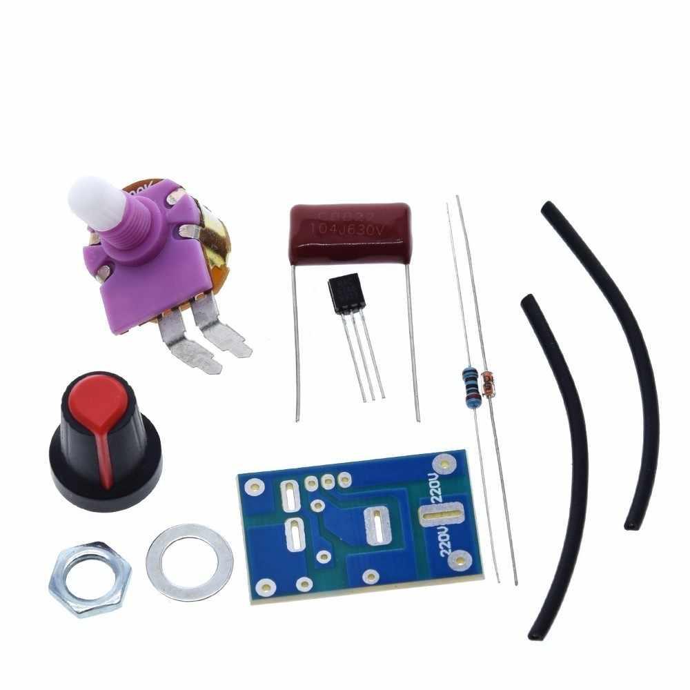Gradateurs gradation Kit non assemblé 100 W bricolage Suite Trousse cartes interrupteur lampes de Table 100 Watts Circuits intégrés pièces électroniques