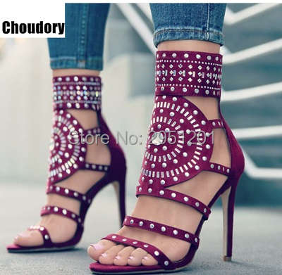 Sexy Women Bling Bling Crystal glitter Dress Sandals Stiletto Strappy Shoes Cut-out Round Shape Design Beaded Diamond Sandals sexy strappy hollow out printed maxi dress for women