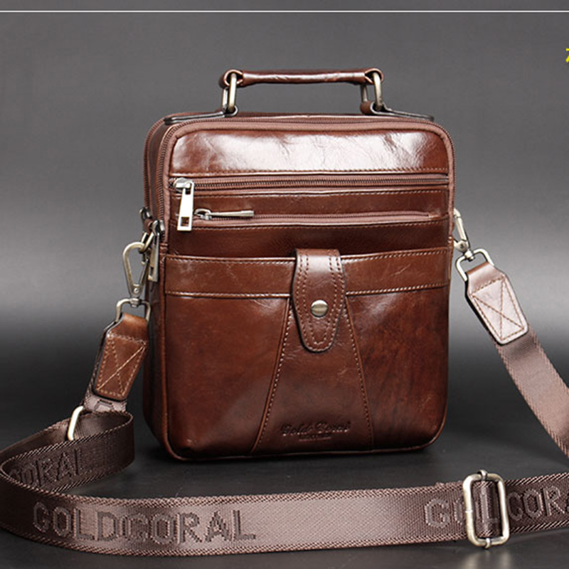 цены  2017 High Quality Genuine Leather Handbag Tote Briefcase Bags Design Men Business First Layer Cowhide Messenger One Shoulder Bag