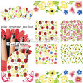 WHOLESALE 50sheet/lot Full-tip Nail Tattoo Nail sticker Water decals Flower Nail Art nail accessories +Separate Packed