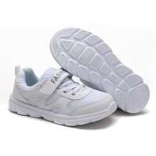 2017 Boys Girls Summer Popular Sneakers Breathable Kids Running Shoes White Girls Sport Sneakers Cheap Kd Shoes Training(China)