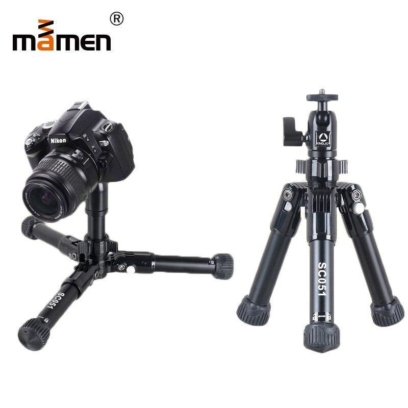 Mamen Professional Foldable Camera Tripod Stand For SLR DSLR Camera Portable Mini Tripod Macro Photography Lighting Tripod