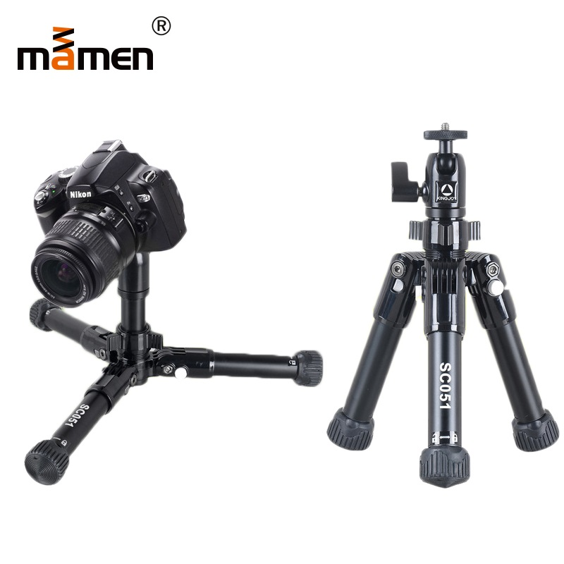 Mamen professionnel pliable appareil photo trépied support pour reflex DSLR appareil Portable Mini trépied Macro photographie éclairage trépied