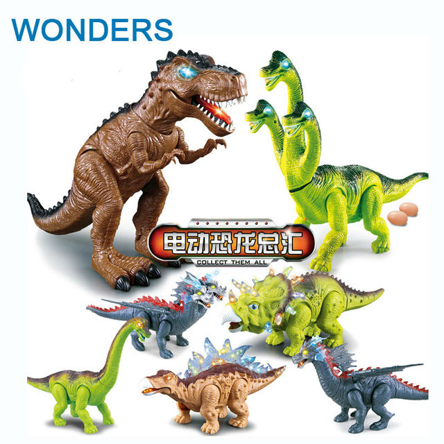 Electric Dinosaur bark Toy Interactive Toys Walk Brinquedos Wyvern hadrosaur Stegosaurus tyrannosaurus always one for you