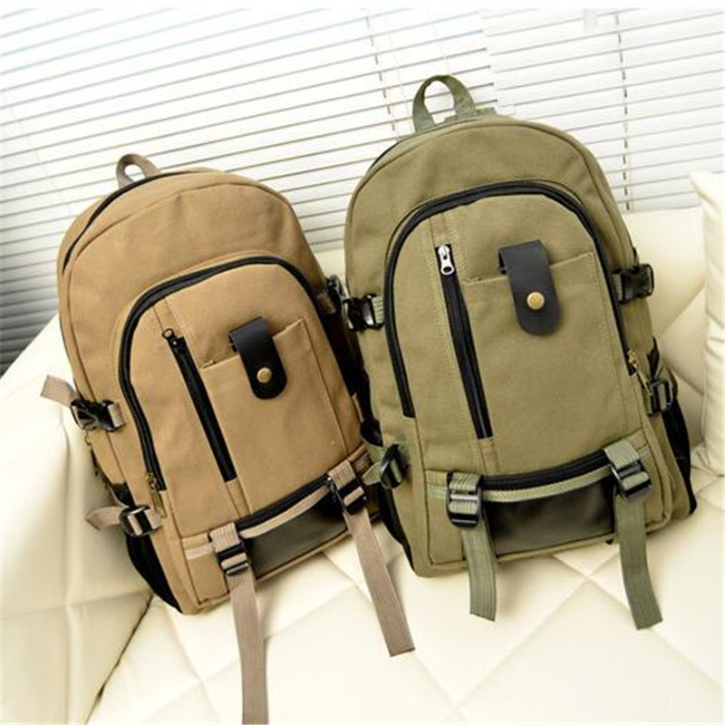 mochila Solid brief fashionable casual canvas school backpack female school bags for girls backpack cute women