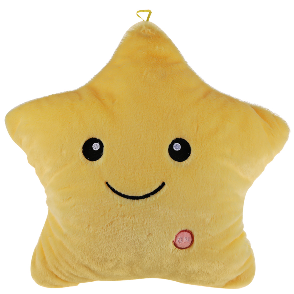 Stuffed Star Plush Lovely Pentagram Toy Energy-Efficient LED Safety Lights Luminous Star Doll Pillow Toy