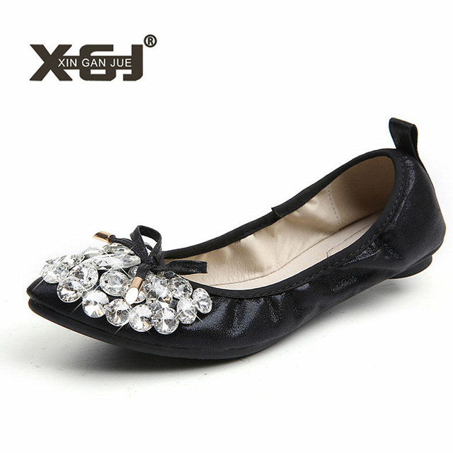 2019 New Style Flat Shoes Women Casual Ballerina Shoes For Women Big Size  43 44 Soft Ladies Autumn Shoes Fashion Female Flats 27993add8ec5