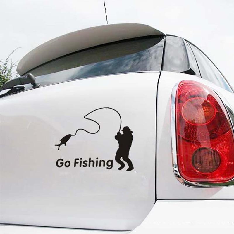 1 stk SEEYULE Go Fishing Car Stickers Styling Vinyl Decal Truck Boat - Udvendigt biltilbehør - Foto 2