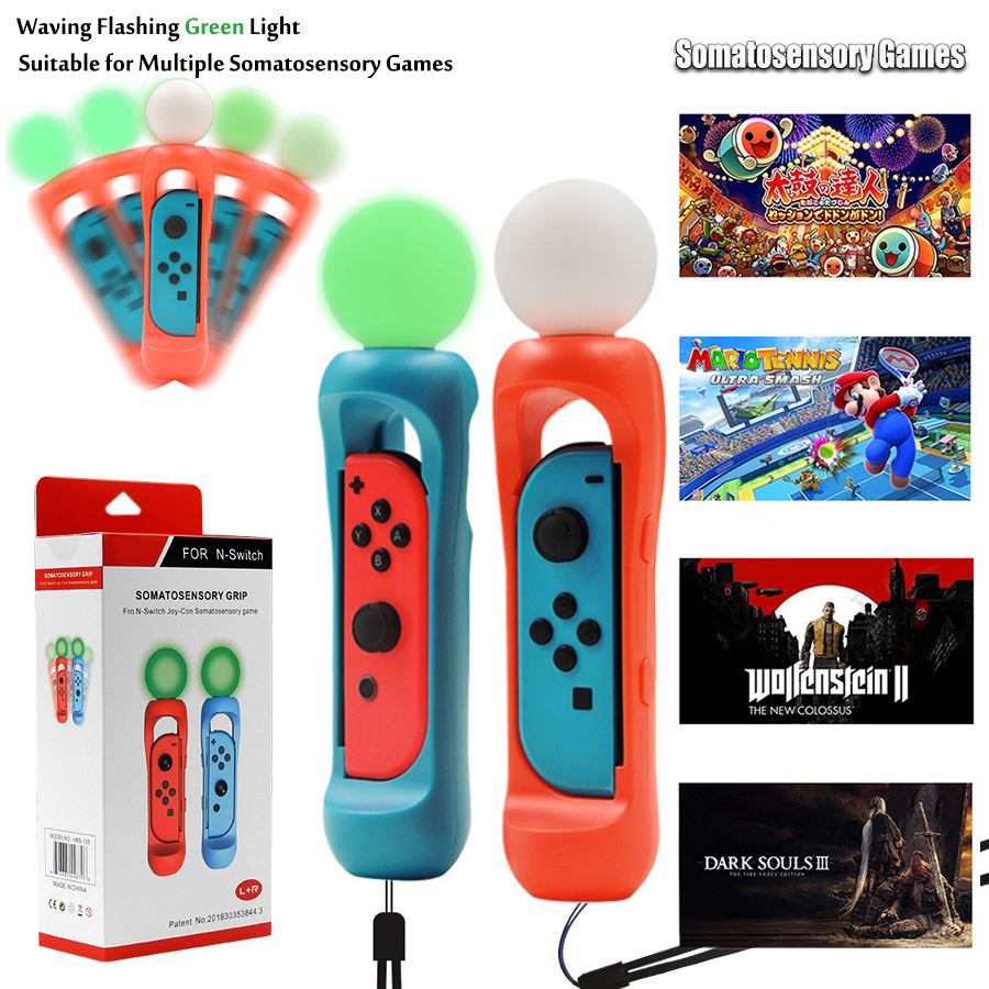 Nintend Switch Somatosensory Handle Grip Nitendo Handgrip Holder for Nintendo Switch Somatosensory Game
