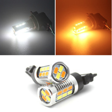 22SMD T20 7443 T25 3157 LED dual Switchback 5630 LED Brake light For Turn Signal Brake Backup DRL Lights Reverse Parking Light 1xhigh power 1157 5630 20smd dual color type 2 switchback white amber yellow switchback led drl turn signal parking light bulbs