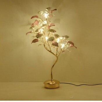 Pháp phong cách led pha lê cây Bảng Đèn đối với phòng ăn đèn Gốm cho Phòng Khách Phòng Ngủ của cô gái Cưới Pha Lê bảng ánh sáng