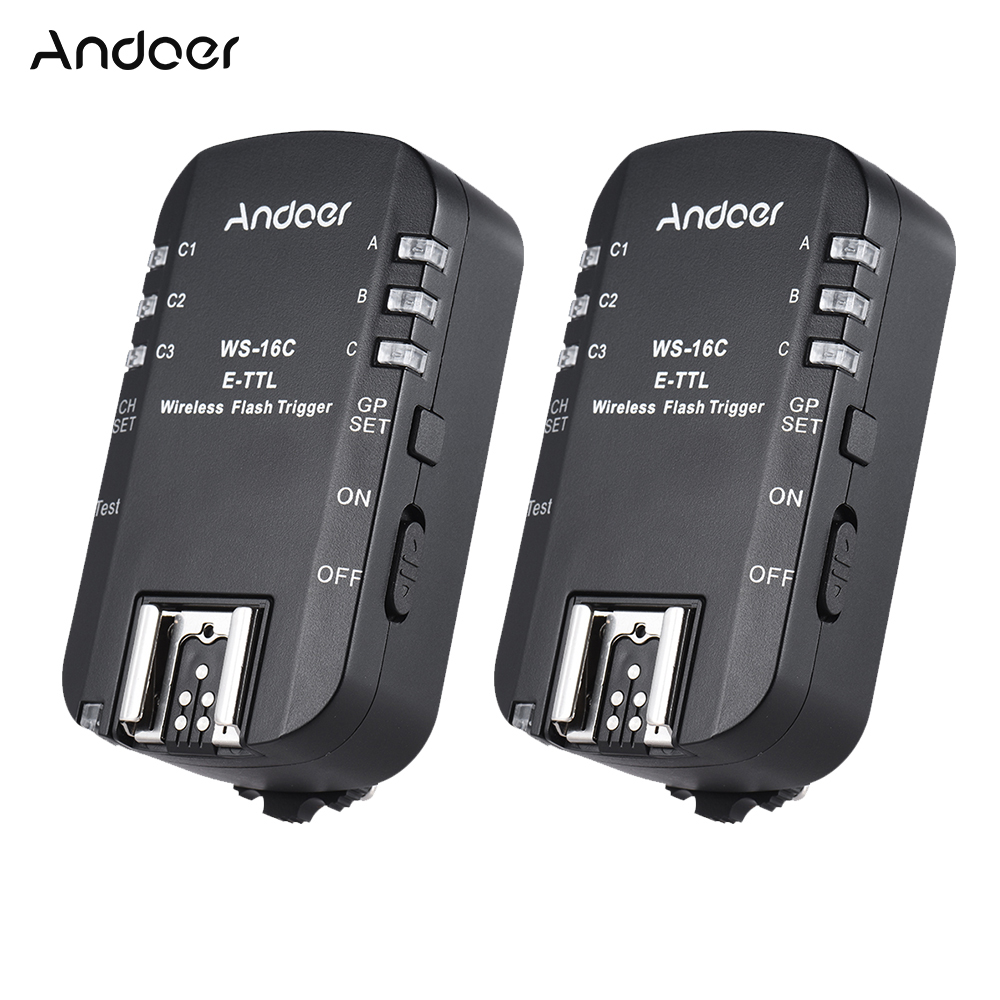 Andoer Ws 16c E Ttl Wireless Flash Trigger Transceiver For