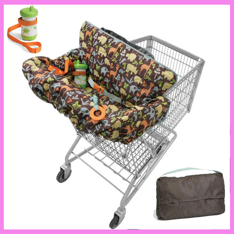 Children Supermarket Shopping Cart Cover Three-point Harness Safety Seat Baby Dining Chair Cushion Travel Trolley Protection Mat цены
