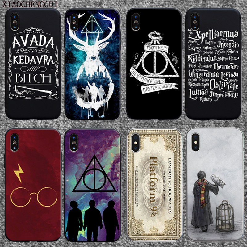 Harry Potter Hogwarts Pattern Soft Silicone Phone Cases Cover for Iphone 7 6S 8 Plus 5S SE X XR XS MAX Coque Fundas Capa