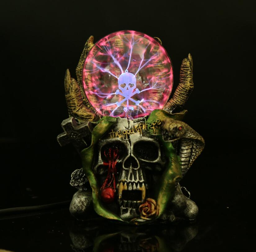 Static Electricity Induction Ball Strange Witch Ion Static Electricity Magic Ball Light Decoration Skull Light Lights & Lighting