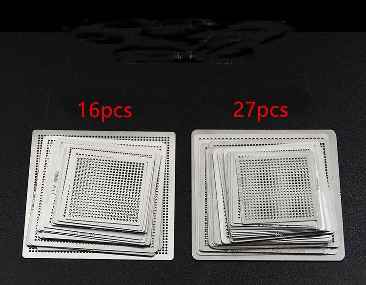 BGA прямое нагревание реболлинга универсальные трафареты с шаблоном зажим для SMT SMD чип переделка Rpair