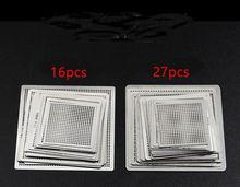 BGA ความร้อนโดยตรง Reballing Universal Stencils มีแม่แบบ JIG สำหรับ SMT ชิป SMD Rework Rpair