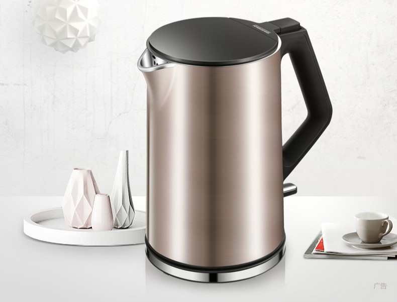Electric heating kettle household 304 stainless steel prevent automatic power loss small Overheat Protection free shipping electric kettle automatic power double layer heat insulation 304 stainless steel overheat protection
