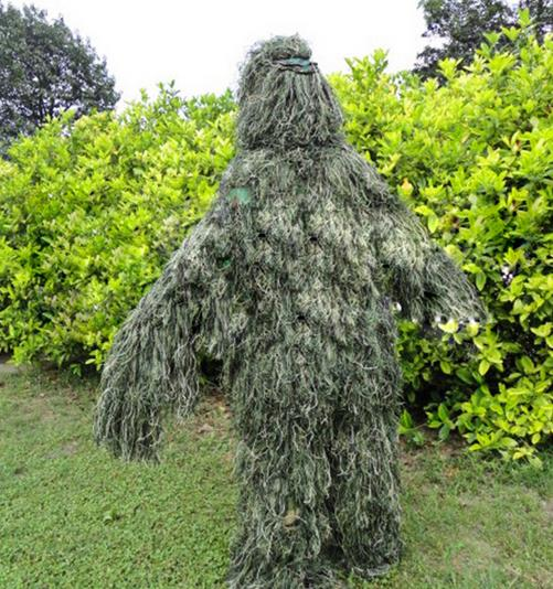 2016 New Forest Design Camouflage Ghillie Suit grass type hunting clothing,yowie Sniper 3D bionic camouflage suit Free shipping 5 pieces new ghillie suit camo woodland camouflage forest hunting 3d