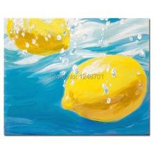 Ручная роспись кухня картина маслом натюрморт маслом лимонное масло на холсте современного искусства