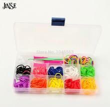 children DIY bracelet & bangle gift Silicone loom band 360 bands + 1 Y Shape Mini Loom 24 s-clips hook Fashion jewelry