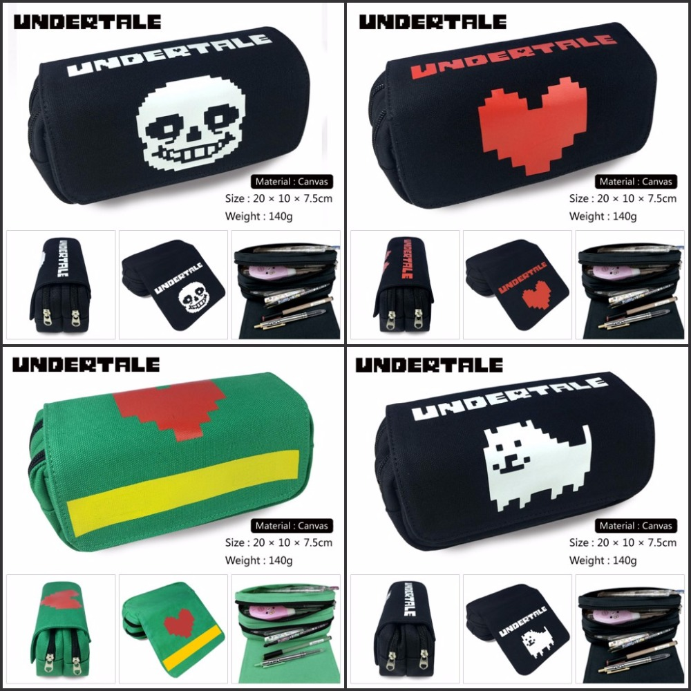 Unisexe sacs à main Undertale Zipper sac à main sac à crayons portefeuille étui Anime Sans Papyrus papeterie sac stylo sac Cosplay Otaku cadeau