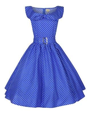 Hepburn Style 1950 s Rockabilly Swing Evening Pinup Prom Retro Dress