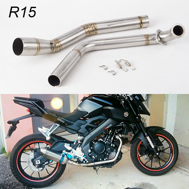 2019 R15 Motorcycle Exhaust Middle Pipe Muffler Modified Pipe For YAMAHA  YZF R15 MT 15 2008 2017 Front Stainless Steel From Yaseri, $79 6 |  DHgate Com
