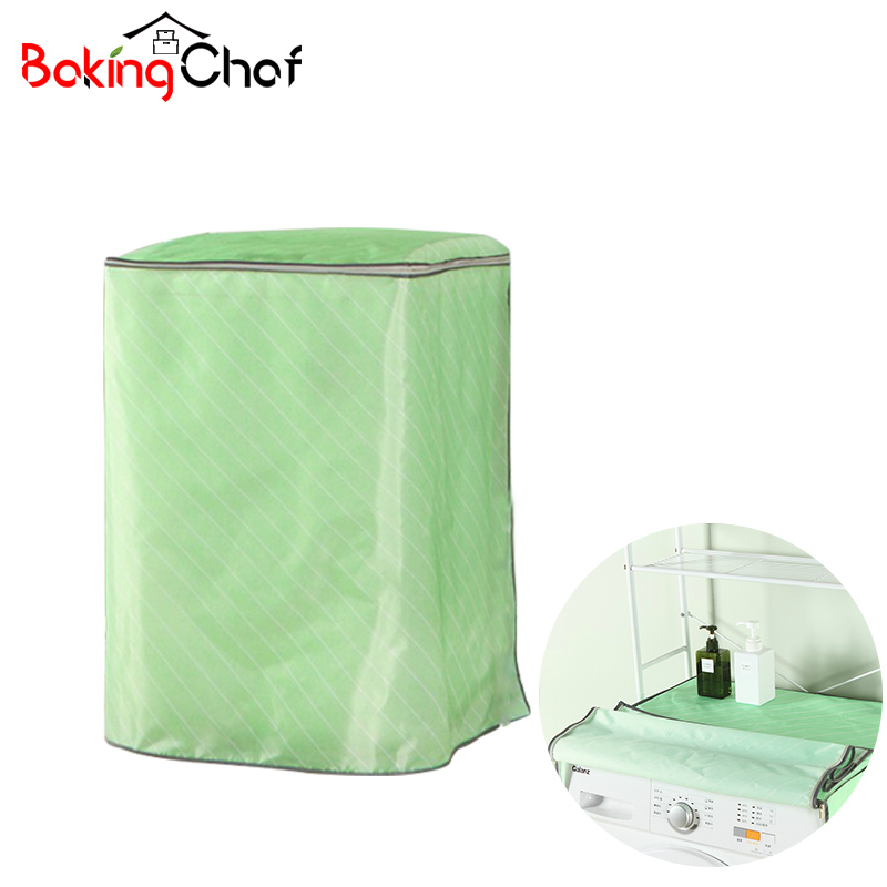 Waterproof Washing Machine <font><b>Dust</b></font> Cover With Slipper Dustproof Prevent Bask Cloth For Kitchen Accessories Supplies <font><b>Products</b></font>