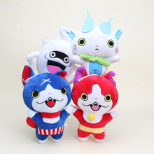 20cm yo kai Yokai montre poupée en peluche Jibanyan Komasan chuchoter Youkai peluche pendentif jouets poupées en peluche porte clés Brinquedos