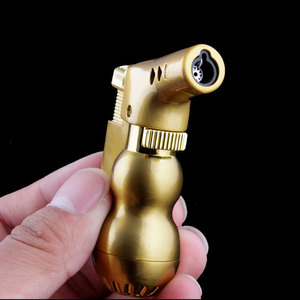 Image 4 - NEW Mini Spray Gun Compact Butane Jet Lighter Torch Turbo Lighter Fire Windproof Metal JET Lighter 1300 C NO GAS