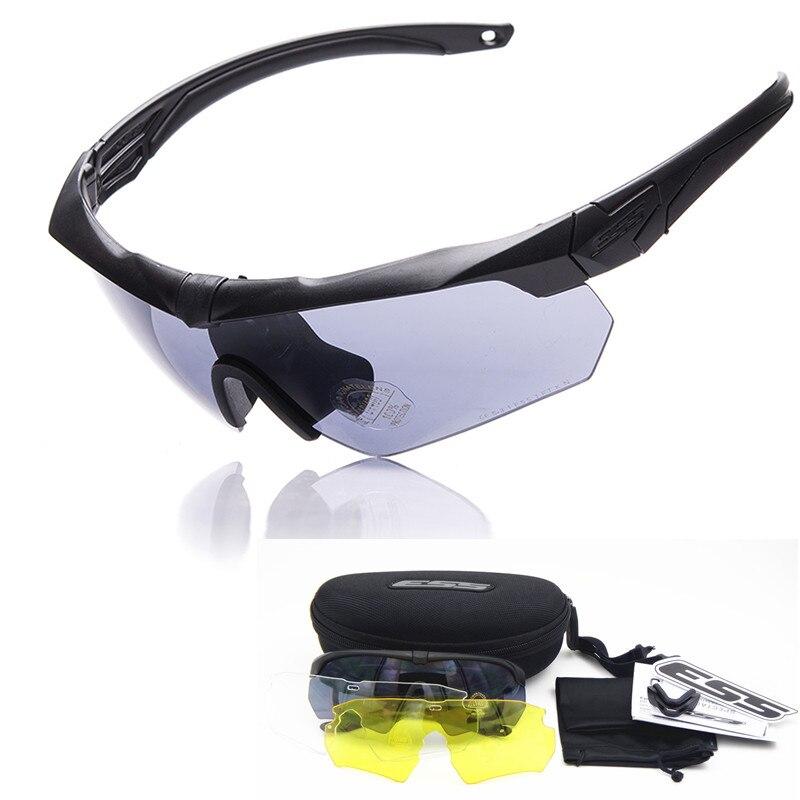 Prix pour Polarisées ESS ARBALÈTE TR90 militaire lunettes 3/5 Lentille Balistique Militaire Sport Hommes lunettes de Soleil Armée Bullet-preuve Lunettes de tir