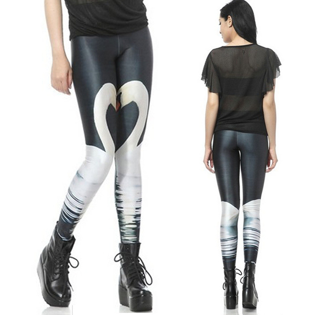 Adventure Time Women Leggings Swan Glalaxy Digital Printing Arrival Autumn Knitted Casual Pants Sexy Girls Clothes Leggins L3072