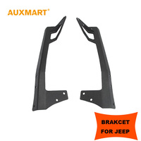 A Pair Of Black Solid Steel 52 Inch Straight Offroad Led Light Bar Upper Windshield Mounting