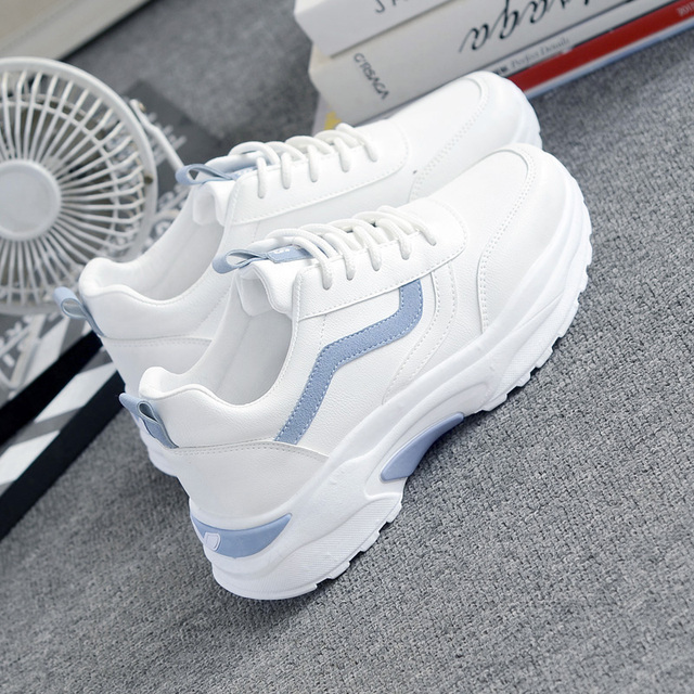 Women Sneakers 2019 Fashion Casual Shoes Woman Comfortable Breathable White Flats Female Platform Sneakers Chaussure Femme 1
