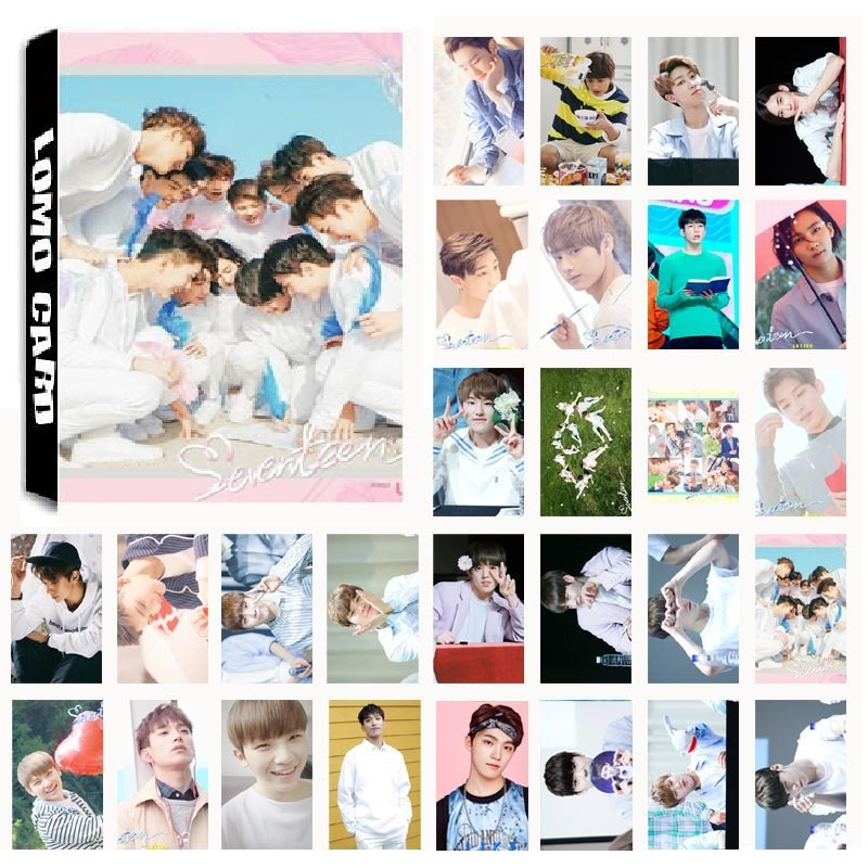 New 30Pcs/set KPOP SEVENTEEN LOVE&LETTER Album Photo Card PVC Cards Self Made LOMO Card Photocard