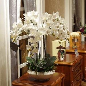 Image 3 - Artificial big size PU real touch hand feeling orchid flower arrangement bonsai flower only no vase luxious flower bouquet