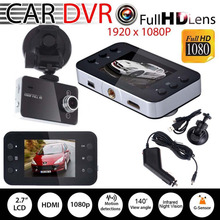 "2.7 ""Full HD 1080 P de 140 Grados Del Coche DVR Cámara de Vídeo Grabador Dash Cam G-sensor HDMI"