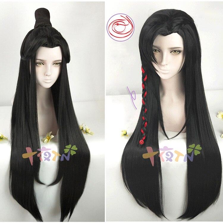 Tian guan ci fu Cosplay Xie lian Black Long Cosplay Wigs Hua cheng  Hair Wig