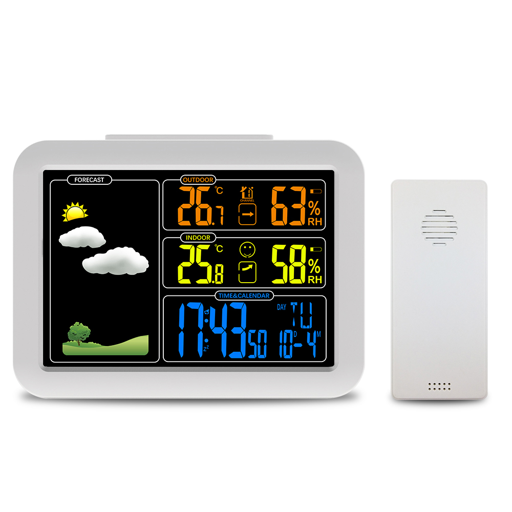 Digital Thermometer Hygrometer Color weather forecast clock Temperature Humidity Forecast Sensor Indoor Outdoor