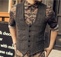 2016 New Arrival Dress Vests For Men Slim Fit Mens Suit Vest Male Waistcoat Gilet Homme Casual Sleeveless Formal Business Jacket