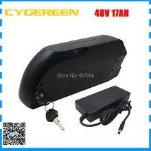 Вниз трубки 48 В Ebike Батарея 500 Вт 750 Вт 48 В 17AH литий-ионный аккумулятор с 3400 мАч 18650 Сотовый USB разъем 2A Зарядное устройство