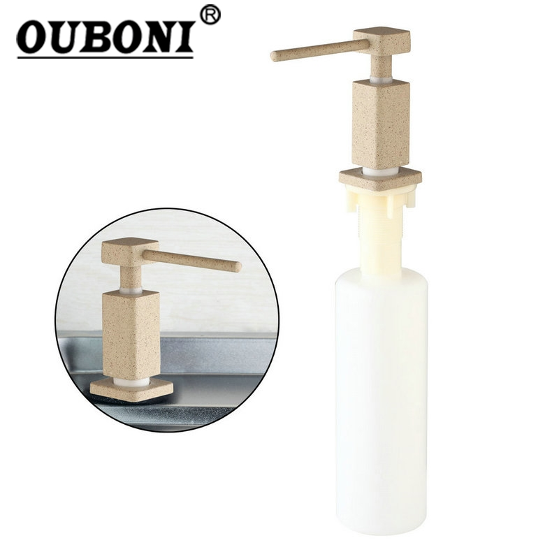 ABS Soap Dispenser White Painting Head Kitchen Bathroom Sink Faucet Shampoo Shower Lotion powdercoat white kitchen bathroom soap lotion dispenser
