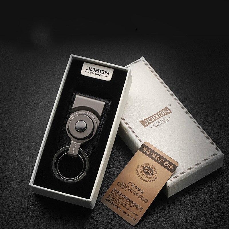 Key Rings Metal Waist Hanging Belt Key Ring Pendant Keychain Ring Car Accessories For Alfa Romeo Lancia Lamborghini Bugatti Hyundai Daewoo Interior Accessories