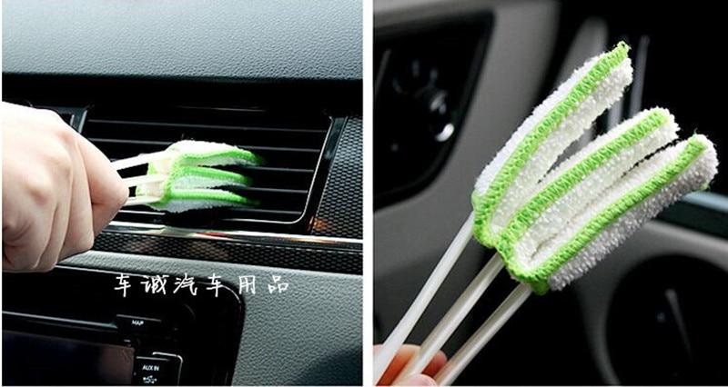 New Car Air Conditioner Vent Slit Cleaner Brush Stickers For Renault Fluence Laguna 3 Symbol 1 2 Talisman Estate Car Accessories(China)