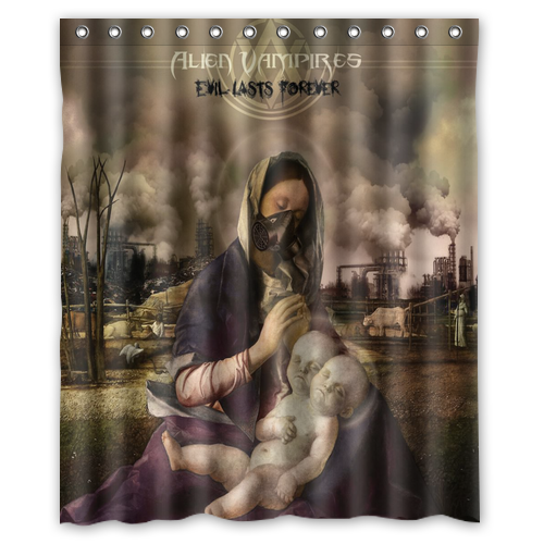 Alien Vampires Evil Lasts Forever Custom Shower Curtains 60x72 Inch Polyester In From Home Garden On Aliexpress
