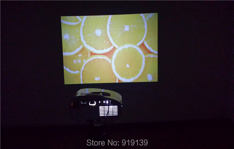 802 projector testing under nighttime indoor 1