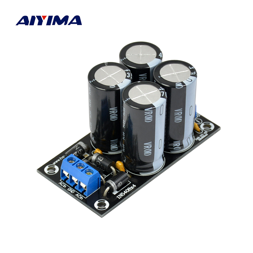 Aiyima Dual Power Rectifier Filter Board 4700uf 35V Capacitance DC Dual Audio Power Supply For Amplifier Diy