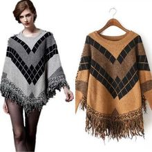 women sweaters harajuku winter clothes woman knit sweater plus size korean top girls o-neck knitted batwing sleeve tassel недорого